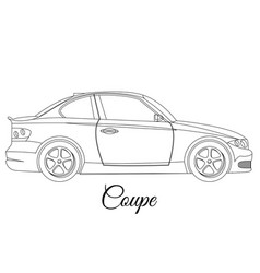 Coupe car body type outline vector