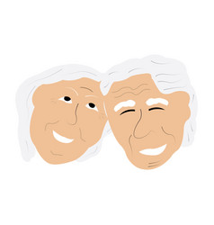 couple of grandparents avatar vector image