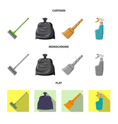 design of cleaning and service sign vector image