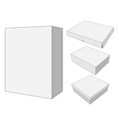 Design of four cardboard Package Box vector image