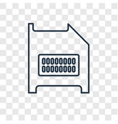 diskette concept linear icon isolated on vector image