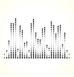 Dotted equaliser equalizer eq lines vertical dots vector