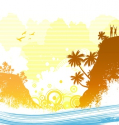 exotic island vector image