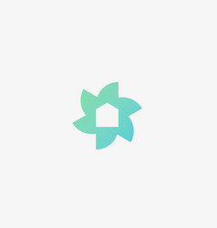 flower home logo design template colorful vector image
