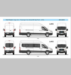 Ford transit cargo and passenger l4h3 2014-present vector