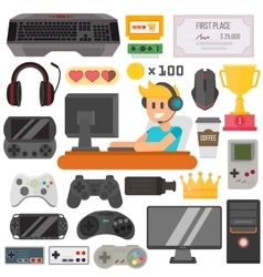 Gaming set vector