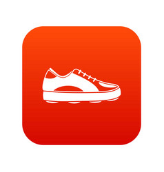 Golf shoe icon digital red vector