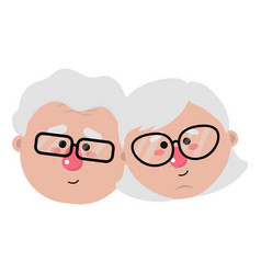 Grandparents cartoon design vector