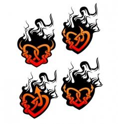 Heart tattoos vector