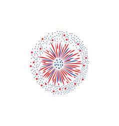 holiday colorful firework lights and splashes flat vector image