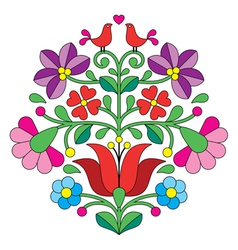 Kalocsai embroidery - Hungarian floral pattern vector image