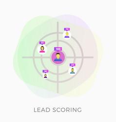 Lead scoring flat icon vector