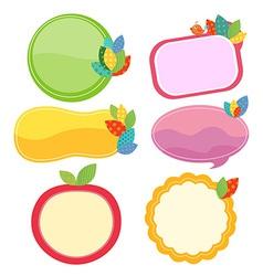 Leaf cute frames vector