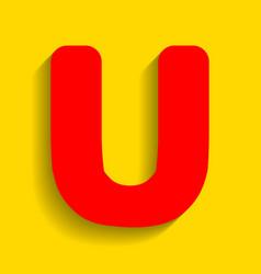 letter u sign design template element red vector image