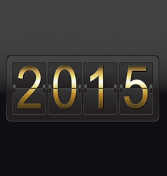 New Year Black Counter Card vector