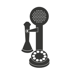 Old telephone isolated icon design vector