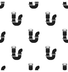 Plumbing trap icon in black style isolated on vector