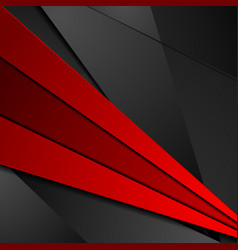 red and black tech corporate abstract background vector image