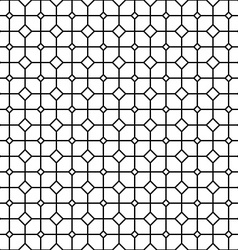 Repeating monochrome grid pattern vector