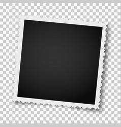 retro realistic square photo frame with figured vector image