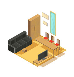 Room furniture isometric composition vector