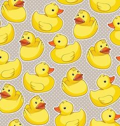 Rubber duck pattern vector