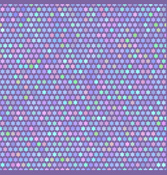 seamless colorful pattern with simple star vector image