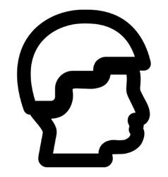 Sergeant Head Stroke Icon vector