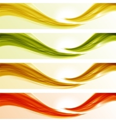 Set of glossy wave banners vector image