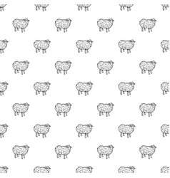 sheep pattern seamless vector image