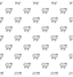 sheep pattern seamless vector image