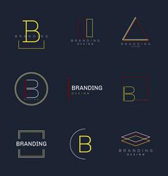 Simple logos and designs vector