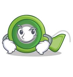 Smirking adhesive tape character cartoon vector