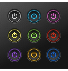 Start power button in dark background vector image