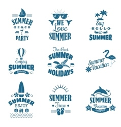 Summer emblem set vector