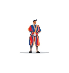 Swiss guards of the Vatican sign vector
