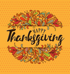 Thanksgiving typography thanksgiving - hand drawn vector