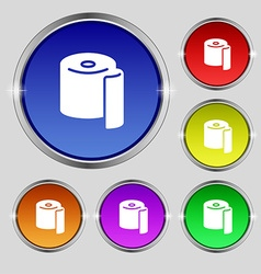 Toilet paper icon sign Round symbol on bright vector