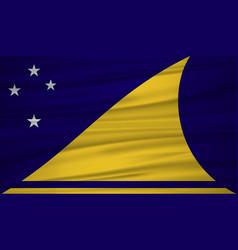 Tokelau flag flag of tokelau blowig in the wind vector