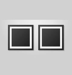 two realistic mofern interior black blank vector image
