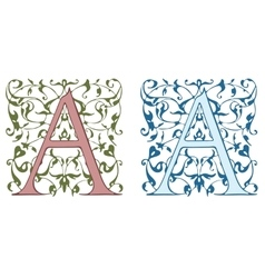 Vintage initials letter B vector