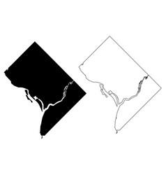 Washington city map vector