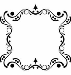 winter elegance frame vector image