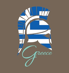 Ancient Greek battle helmet vector image
