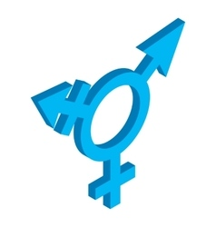 Bisexuals sign isometric 3d icon vector
