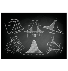 Normal Distribution Diagram or Bell Curve Charts vector image vector image