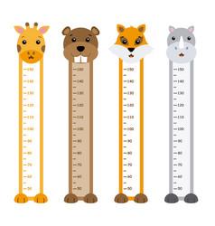 children meter wall animals vector image vector image