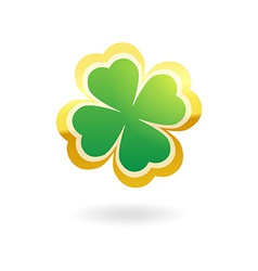 Clover with four leafs vector image vector image