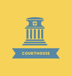 courthouse building vector image vector image