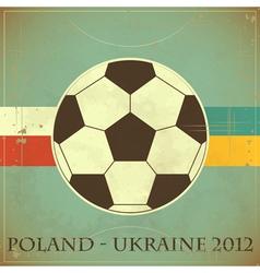 euro 2012 retro vector image vector image